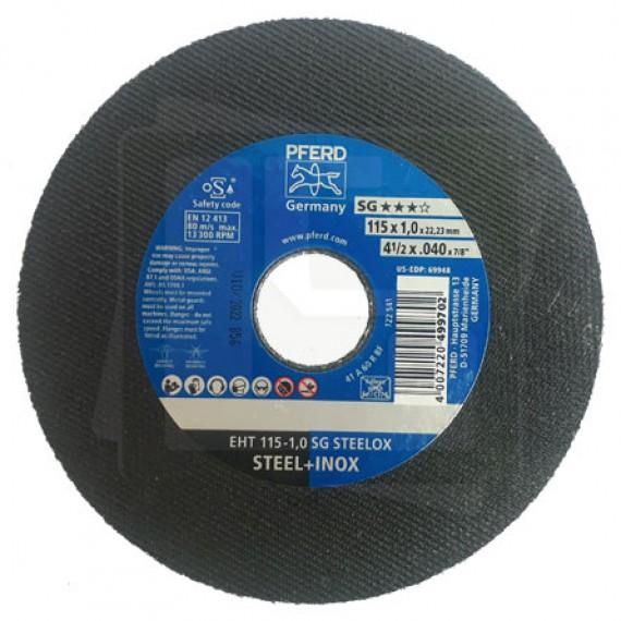 Disco de Corte 115 1,0 SG STEELOX - PFERD