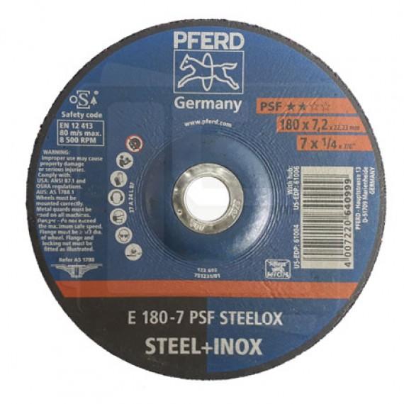 Disco de Desbaste E 180-7 PSF STEELOX - PFERD