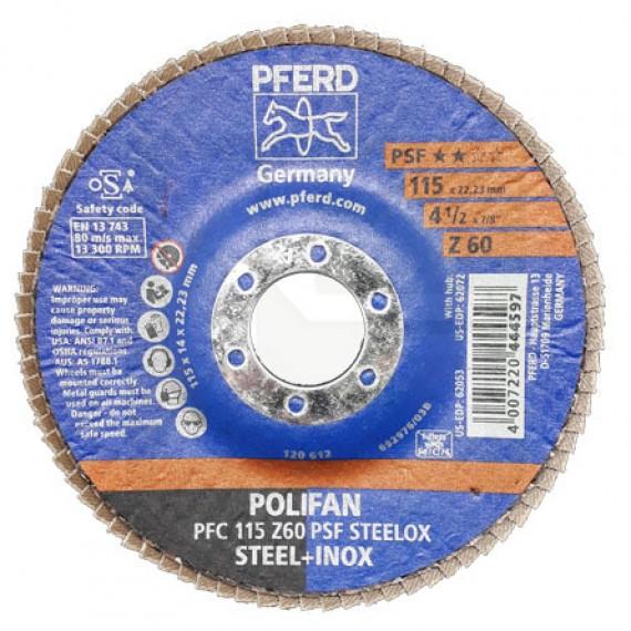 Flap Disc Polifan PFC 115 Z60 PSF Steelox - PFERD